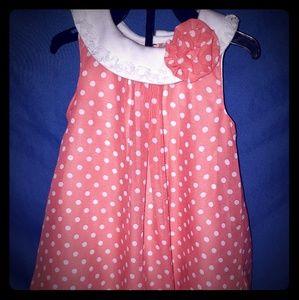 Orange & White Polka Dot Baby Essentials Flower
